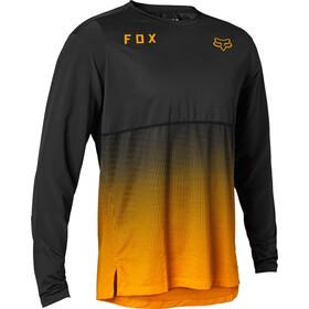 Fox Flexair Maglia jersey a maniche lunghe Uomo, nero/arancione